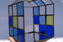 Stained-glass lantern
