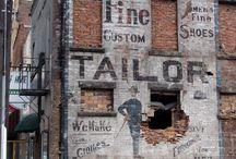 Old brick signage