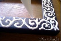 decorating with glue