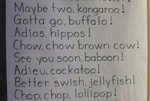 Funny Phrases for preschoolers