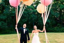 Wedding Decor Trends 2014 / Some of the hottest trends in wedding decorations for 2014 involve adding bright pops of colour using large balloons, paper lanterns, floral bunting and hanging ribbons.  / by Bride.com.au