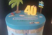 urne anniversaire 40 ans thème voyage