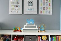 Home: Playroom / Efforts to not drive myself crazy with the state of our (rental) house.