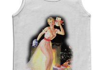 Pinups / As mais belas Pinups, agora na sua camiseta