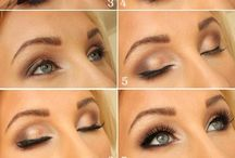 Gold & black eyes & nails