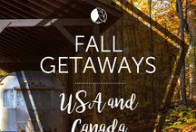 Fall Getaways / Start your autumn-inspired board by pinning one of these top fall getaways in the U.S. and Canada.