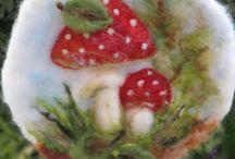 Naaldvilt paddenstoelen
