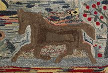 ~Rugs Matter~ / ~These are some of my favorite images of primitive hooked rugs.~
