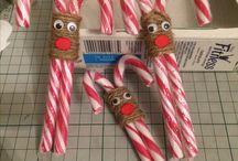 Jouluaskartelua / Joulu Porot candy cane