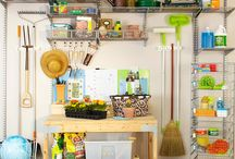 Garage & Storage Room Organization / Get your tools and storage ready for organization with these great ideas!