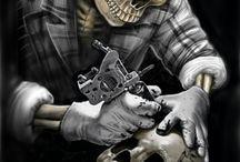 Wallpeaper Machine Tattoo