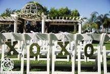 Ceremony Setting / Outdoor wedding venue at Villa de Amore in Temecula CA.