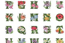 bloemen alfabet.
