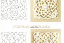 Crochet, Haak - patterns, charts, diagraphs - haak patronen, diagram
