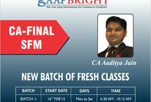 SFM (CA-FINAL) /  NEW BATCH of FRESH CLASSES staring from 16 FEB'15.