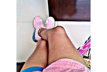 colour blocking shoes