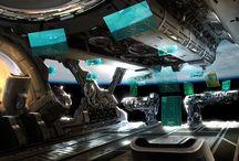 Concept ship cockpit