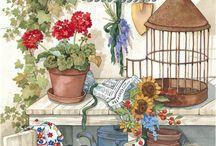 Imagens - Jardim / Pintura, ilustração e arte decorativa