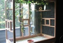 Aviaries/bird cages