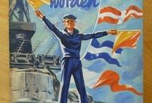 Marine en koopvaardij Vintage Posters