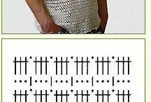 Camisa de crochê masculino