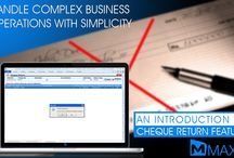 Cheque Return / Cheque return generally happens due to the insufficient amount available in the bank account or account name and signature mismatch... http://maxxerp.blogspot.in/2013/08/maxx-handle-complex-business-operations.html