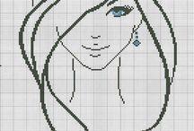 Wzory haftów twarze