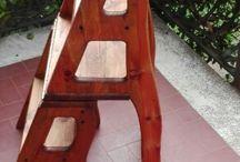 sedia a scala, chair, wood / Fai da te ,hobby,wood,