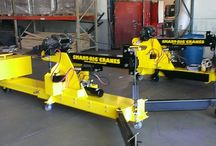 Shop Cranes, portable / Portable shop cranes. Floor Cranes. Engine hoists. Portable lifters fit through doors and for use interior/exterior/rooftops. HVAC, Steel, curtain wall installation equipment.
