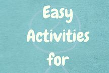 Toddler Activities / Simple and fun toddler activities.  Indoor and outdoor activities.  Ideas for stay at home moms.  Ways to keep toddlers busy when traveling.  DIY toddler friendly crafts and projects.