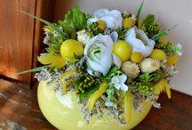 Dekorace z květů