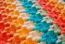 crocheting blankets.