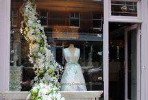Bridal shop window
