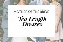 Tea Length Dresses for the Mother of the Bride / Unconventional yet Classic , Sheath, A- Line or Full Flare?— which tea length dress will you be wearing for the wedding?