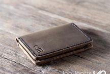 Handmade Leather Wallets / Handmade Leather Wallets by the Etsy shop JooJoobs.