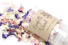 New wedding confetti products for 2016 / Your confetti moment starts here!  Find us for all your wedding confetti needs including a large range of natural biodegradable confetti petals and personalised confetti cones.