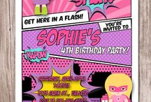 4th Birthday - Girly Superhero