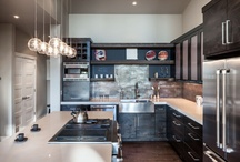 Black is Back / Who says black makes a space look smaller? While that may be true in some cases, black is an excellent feature color that's bold and rewarding if you use it properly!