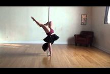 Pole Dancing Videos / Yoga Flirt free-style, inspiration for every day women practicing pole fitness for fun.