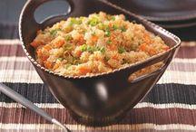 grains (quinoa, bulgar wheat, couscous)