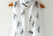 DIY stamped scarves