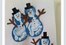 snømann fotavtrykk