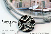 KARMA BRACELET / Bracciali colorati con bottone in argento 925, ognuno con una pietra corrispondente, a soli 10 euro!