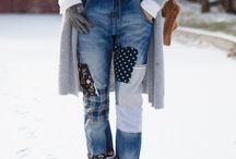Jeans más patchwork