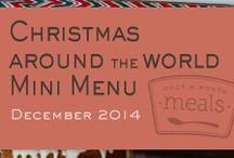 Christmas Around the World Mini December 2014 Menu / Add some international diversity to your holiday celebrations this year with our Christmas Around the World Mini December 2014 Menu highlighting tasty traditions from Chilean Fruit Cake to the Swiss chocolate-almond spice cookies called Basel Brunsli. / by Once A Month Meals