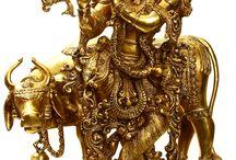 Idols in brass