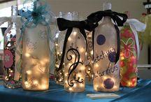Wine Bottle Lamps/ Glass Block Lights