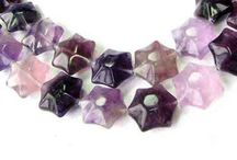 Stone Beads > Fluorite Beads / Natural Fluorite Beads in a variety of shapes, colors, sizes and styles.