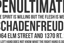 Terrific Typography (Fonts) / A collection of some of our favorite fonts and digital type-settings