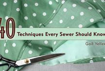 Sewing -techniques and tips
